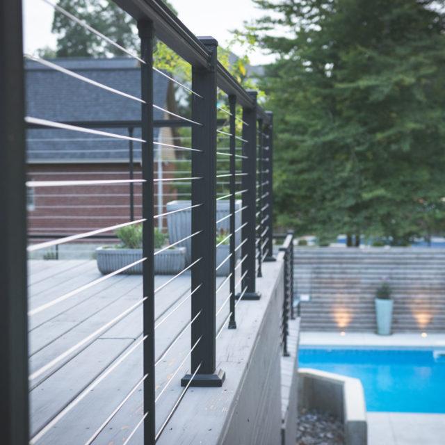 Residential pool railing