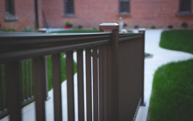 Monastery exterior railing