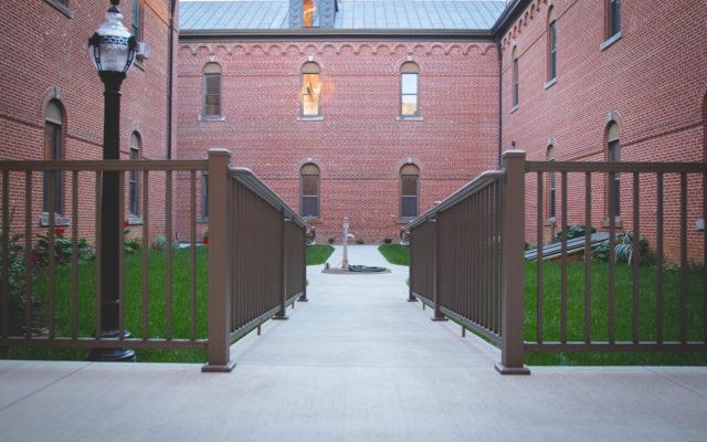 Monastery exterior sidewalks