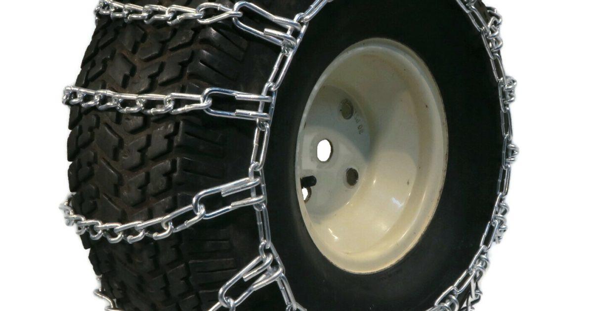 The ROP Shop Pair 2 Link TIRE Chains 18x6.5x8 fits Many Honda ATC TRX ATV All-Terrain Vehicle