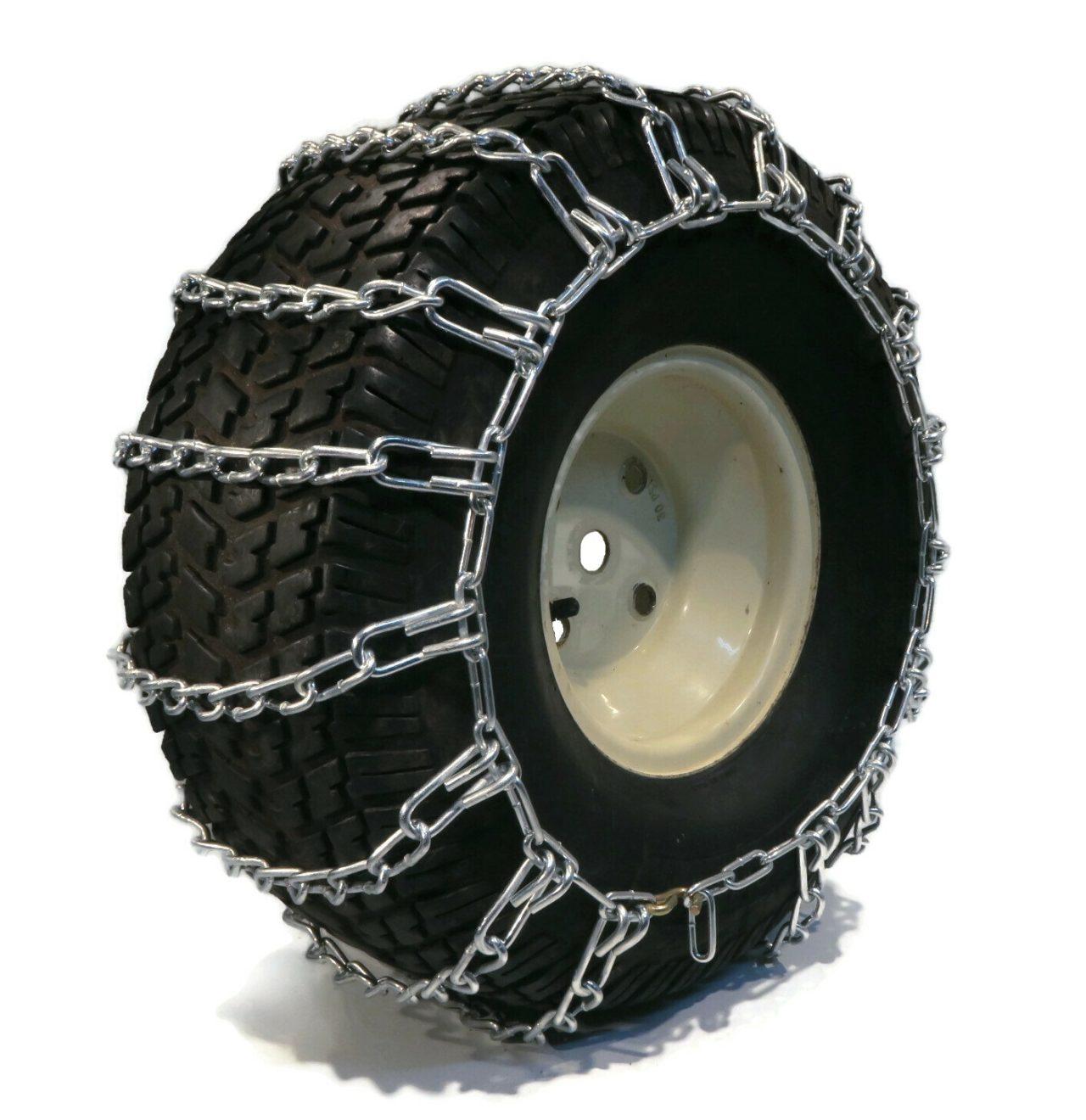 The ROP Shop Pair 2 Link TIRE Chains 23x10.50x12 22x11x8 22x11x10 23x10x12 24x9.5x12 for UTV ATV Vehicle