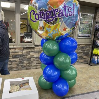 Congrats balloons.