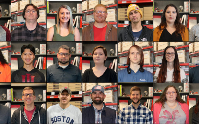 Several pictures of employees.