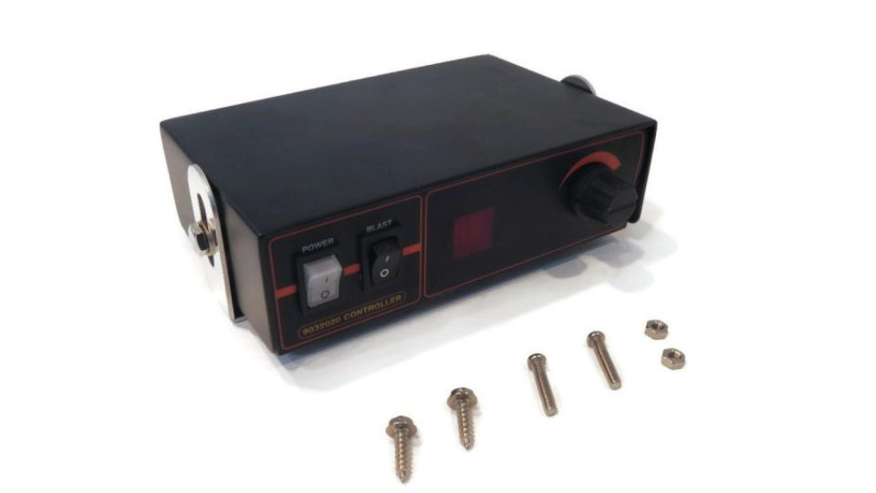 A controller box for salt spreaders.