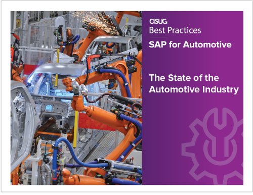 ASUG Research Report The State of the Automotive Industry