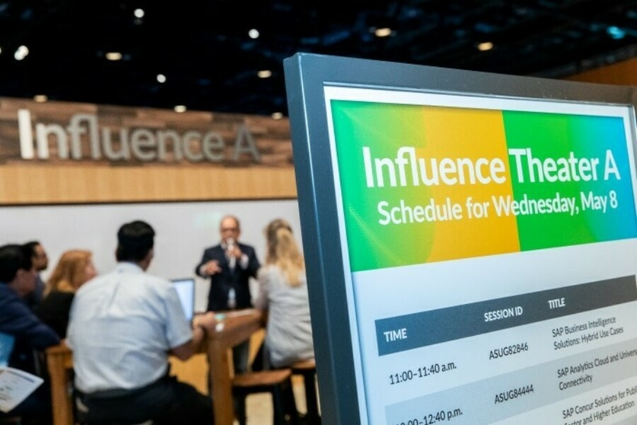 sign for customer influence session at 2019 SAPPHIRE NOW + ASUG Annual Conference