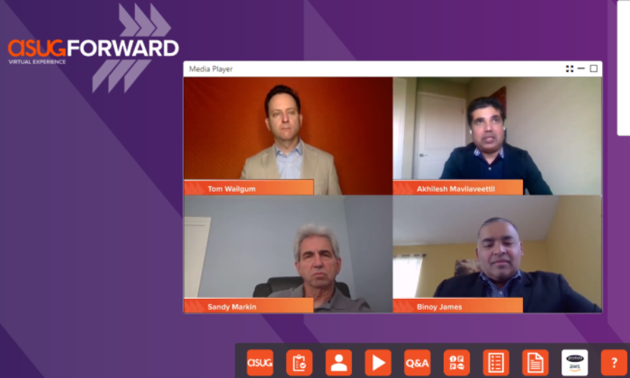 Ask the Experts panel at the ASUGFORWARD Supply Chain and Manufacturing virtual conference