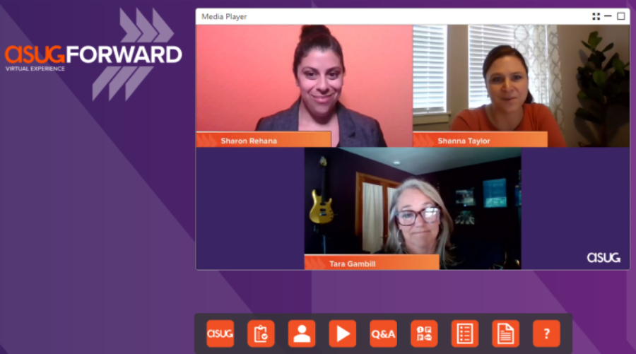 Screenshot of Employee Experience and Human Resources panel at ASUGFORWARD 2020