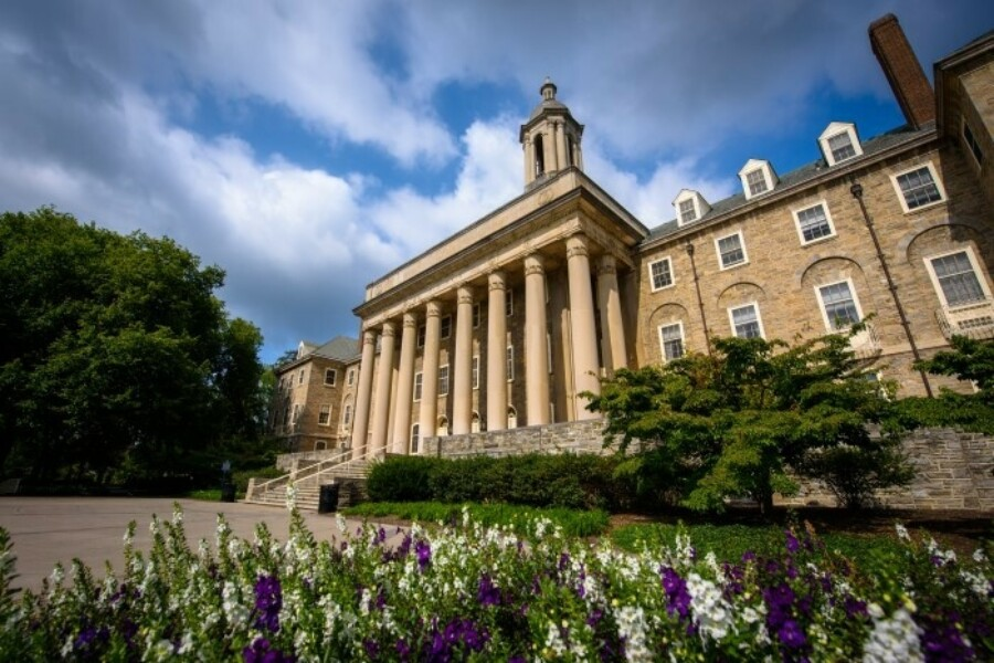 Side view of Old Main at Penn State University