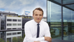 SAP CEO Christian Klein in front of SAP headquarters