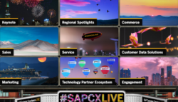 Screenshot of SAP CX Live virtual conference