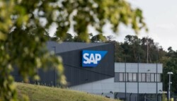 SAP headquarters in Germany behind a tree