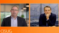 ASUG CEO Geoff Scott talks to SAP CEO Christian Klein.