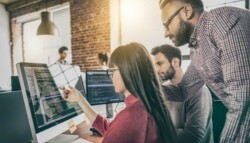 employees developing software