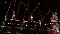 Circus tightrope walkers 700x467