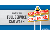 3 Full Service Wash Tickets