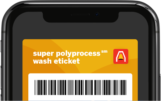 Super Polyprocess℠ Wash eTicket