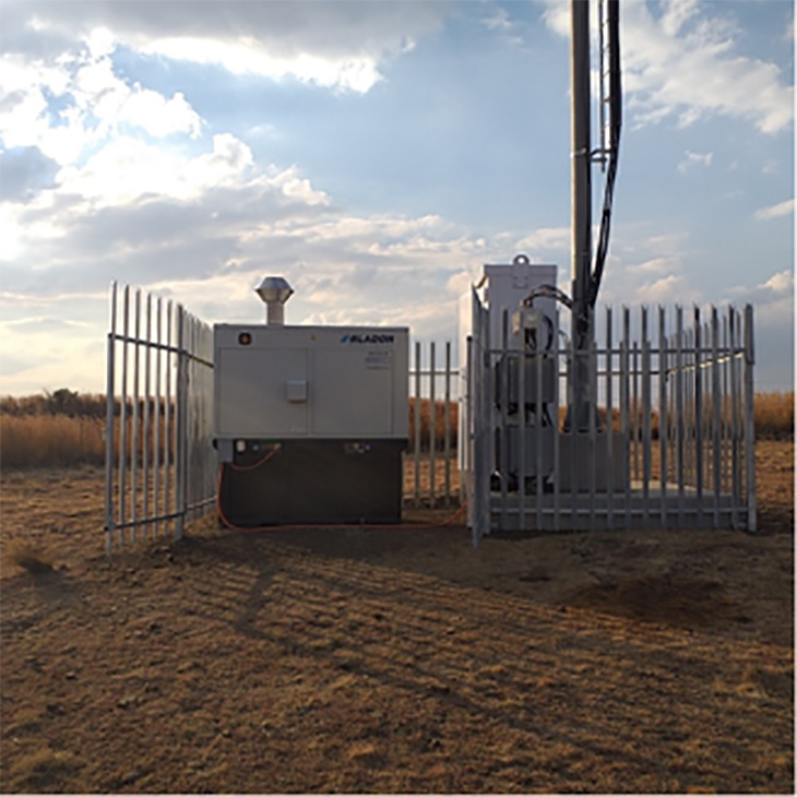 off-grid telecom site in South Africa