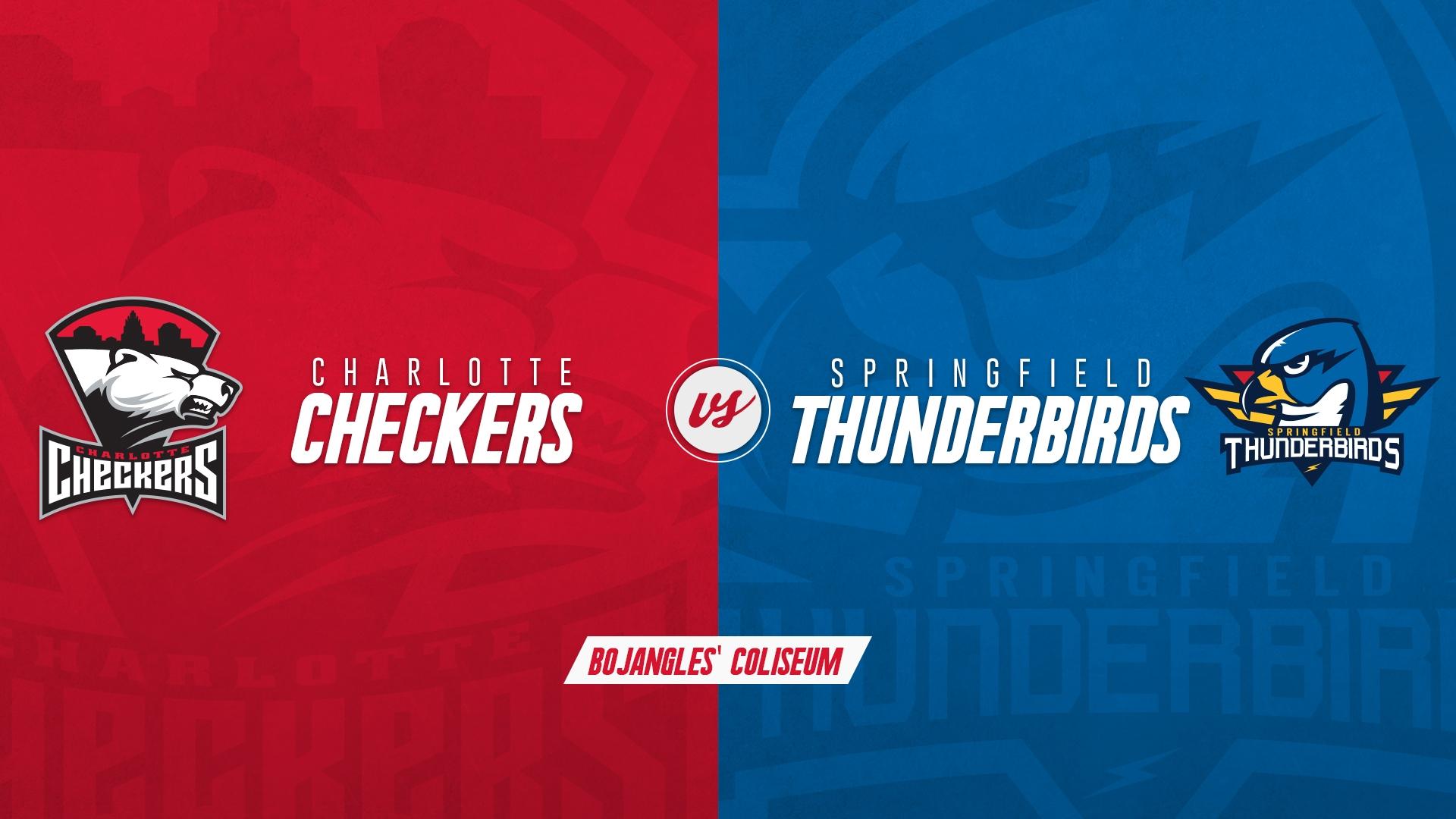 Charlotte Checkers vs. Springfield Thunderbirds