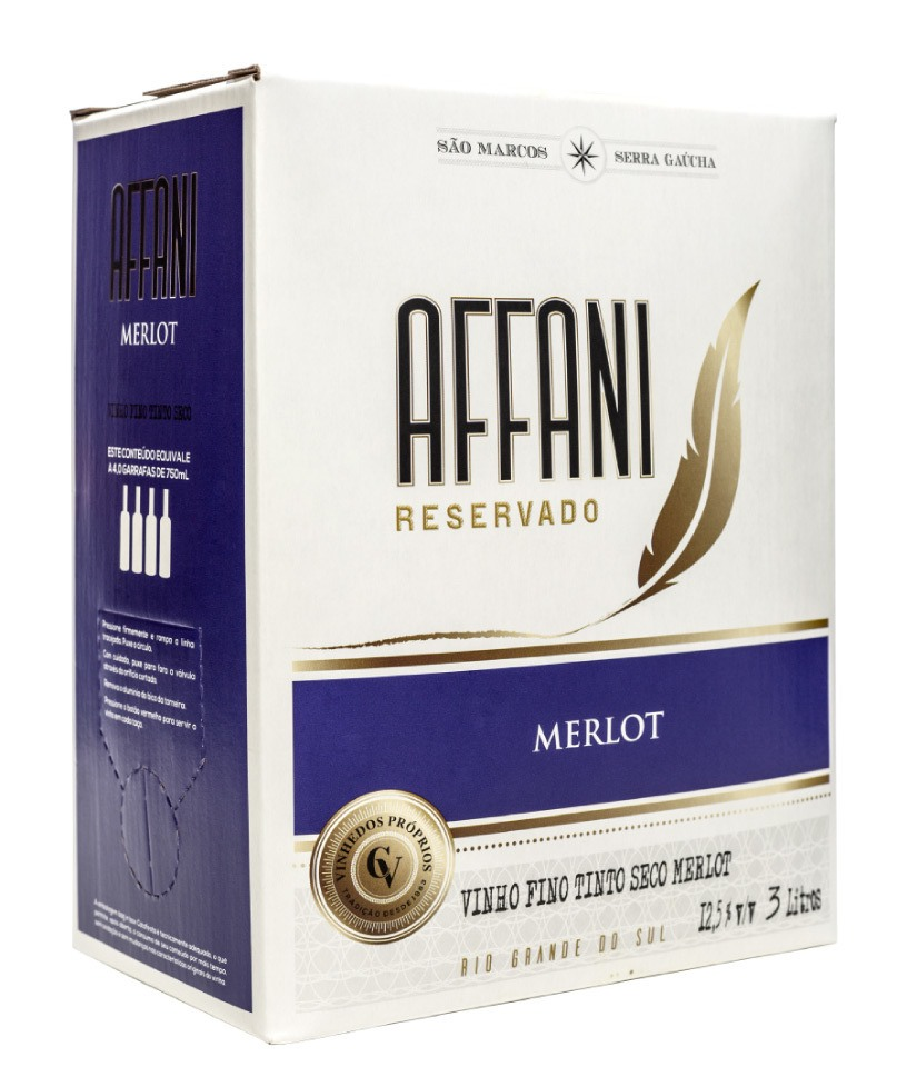 Affani Merlot Bag in box 3L