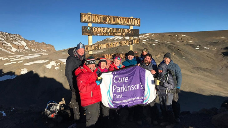 At the summit of Mt Kilimanjaro, a fantastic effort to raise funds.