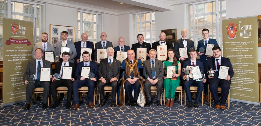 WCB / Institute of Meat Awards 2020 winners at Butchers' Hall