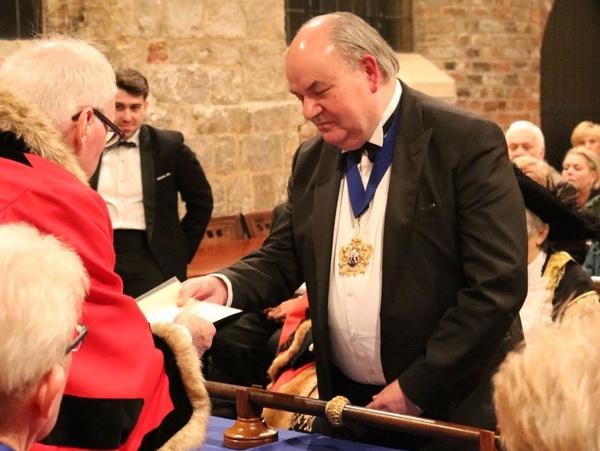 York Butchers Gild presentation to the Master Butcher Tim Dumenil