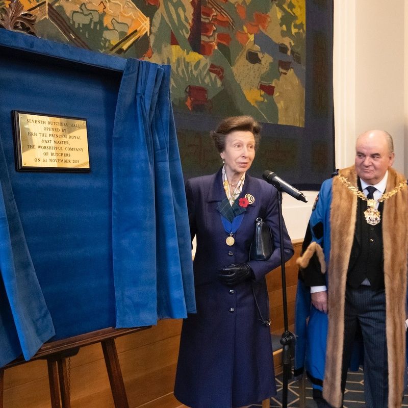 A royal visit as new Butchers' Hall is officially opened
