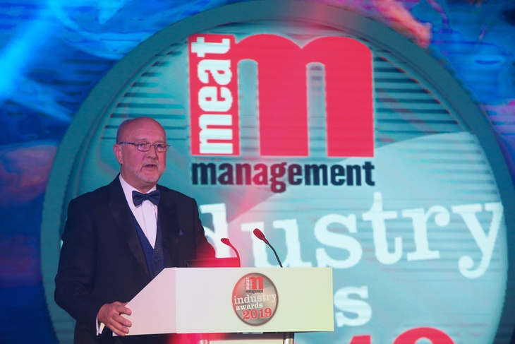 Liveryman, Graham Yandell welcoming guests as publisher of Meat Management in 2019