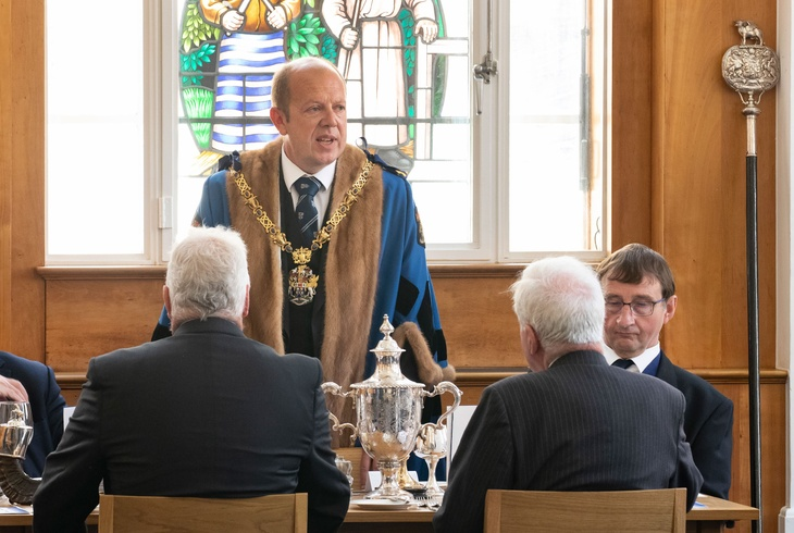 The Master, Andrew Parker welcomes Liverymen back to Butchers' Hall