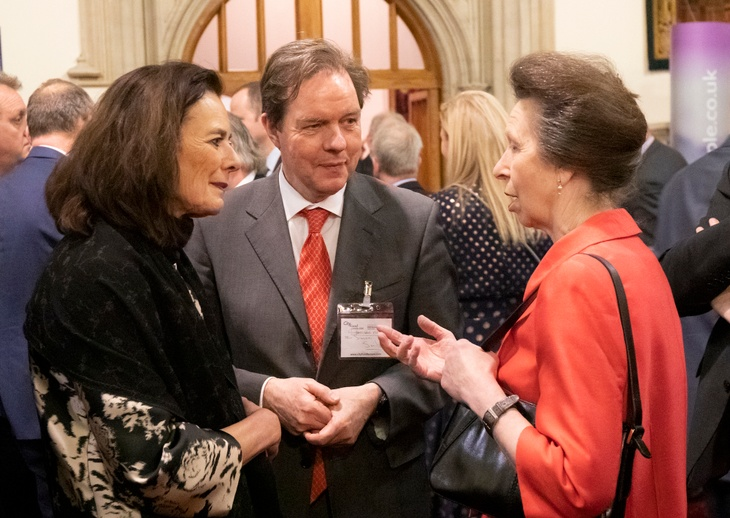 HRH The Princess Royal with Professor Fresco and the Dutch Ambassador at the CFL 2020.