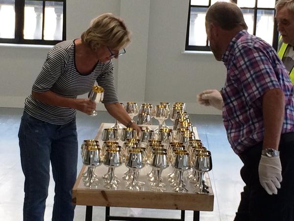 Polishing silver at Butchers' Hall