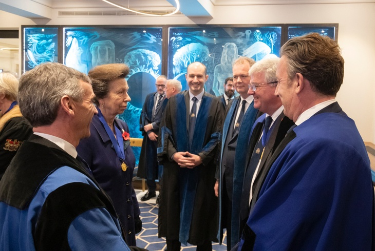 HRH The Princess Royal meets members of Court