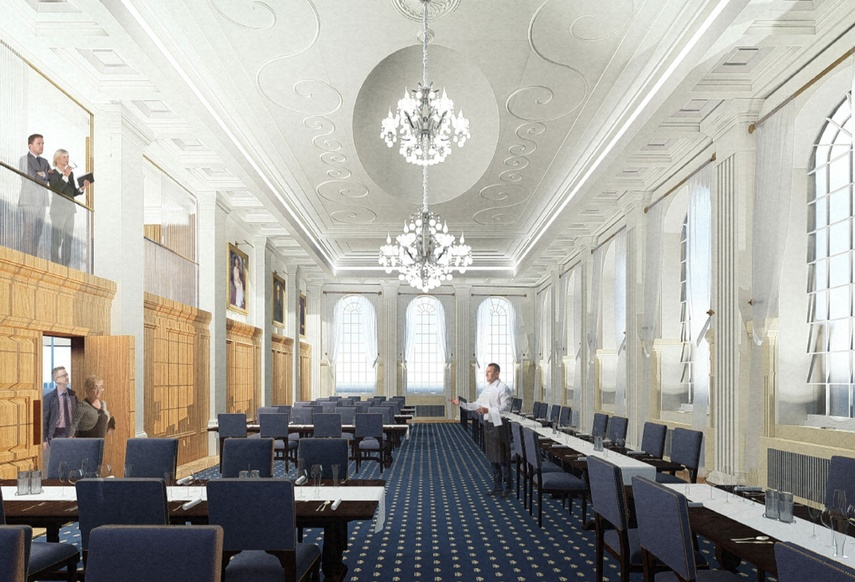 Butchers' Hall - Artist's' Impression of Great Hall