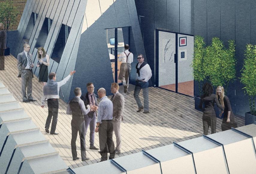 Butchers Hall - Artist's' Impression of rooftop garden
