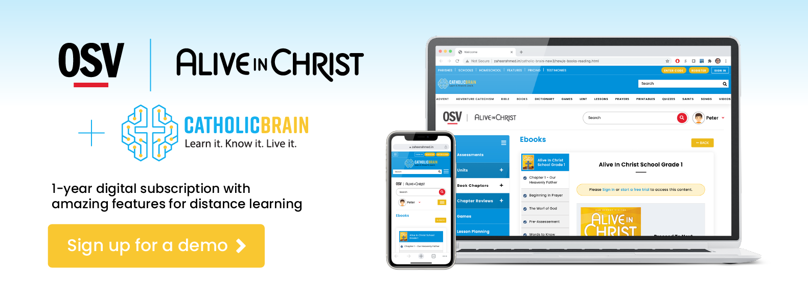 Alive In Christ School Grade 8