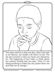 Ash Wednesday Coloring Page