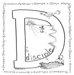 Coloring Page-D-Disciple