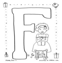 Coloring Page-F-Faith