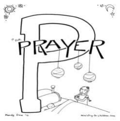 Coloring Page-P-Prayer
