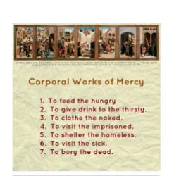 The 2 Great Commandments - Activity Sheet  - Corporal - Grade 6-8