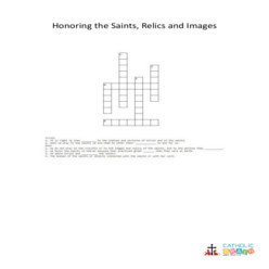 Honoring the Saints, Relics, and Images - Cross Word