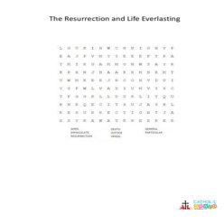 The Resurrection and Life Everlasting - Word Search