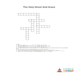 The Holy Spirit and Grace - Cross Word