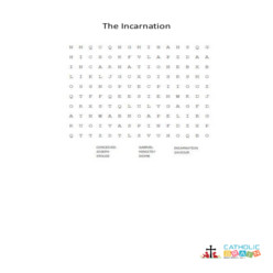 The Incarnation - Word Search