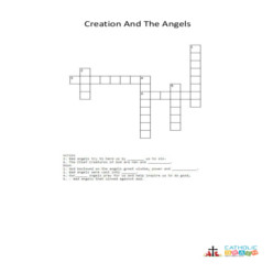 Creation and the Angels - Cross Word