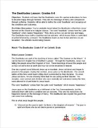 The Beatitudes - Lesson Plan - Grades 6-8