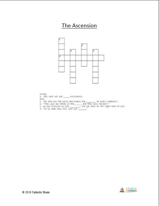 The Ascension - Crossword