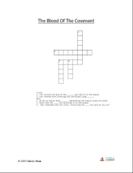 The Blood of the Covenant - Crossword