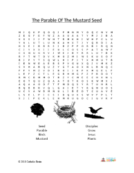 The Parable of the Mustard Seed - Word Search